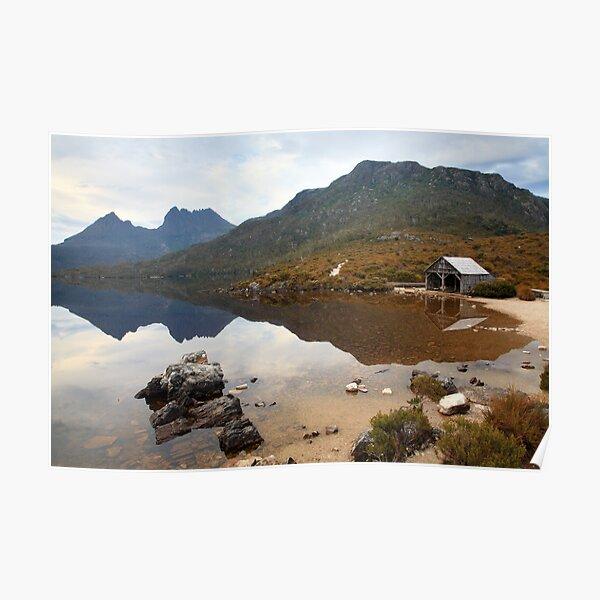 Boat Shed, Dove Lake, Cradle Mountain Nat. Park, Australia Poster