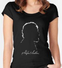 Stephen Sondheim Outline Women's Fitted Scoop T-Shirt