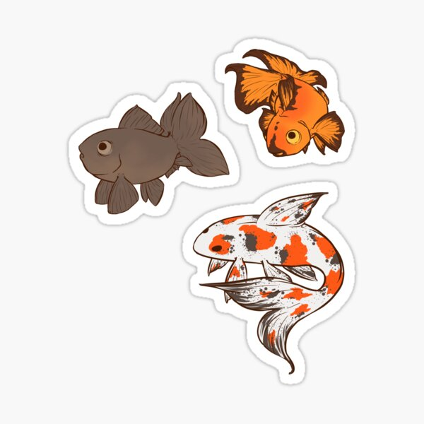 Fancy Goldfish Stickers Set Sticker