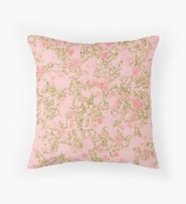 Cerise coral golden shimmer Throw Pillow
