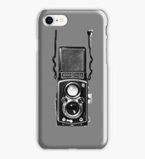 Classic Retro Rolleiflex Twin Lens Reflex Film Camera iPhone Case/Skin
