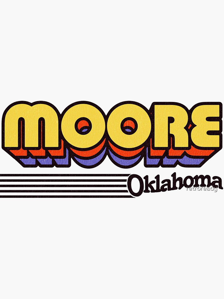 Moore, Oklahoma | Retro Stripes by retroready