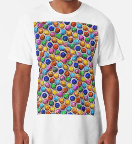 Color Dots #DeepDream Long T-Shirt