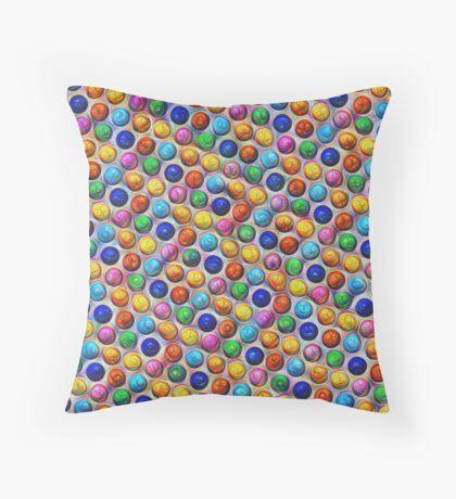 Color Dots #DeepDream Floor Pillow