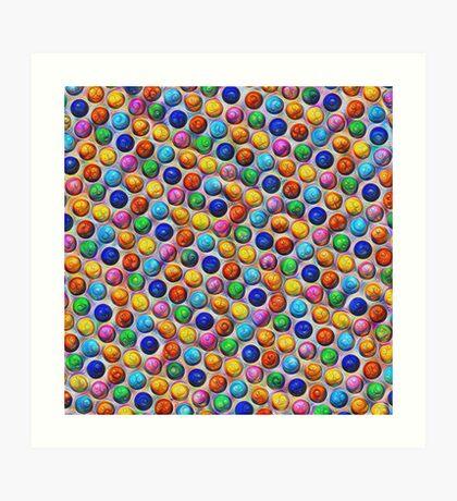 Color Dots #DeepDream Art Print