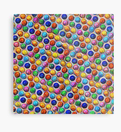 Color Dots #DeepDream Metal Print