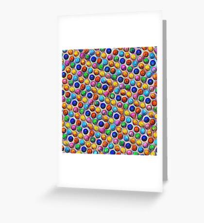Color Dots #DeepDream Greeting Card