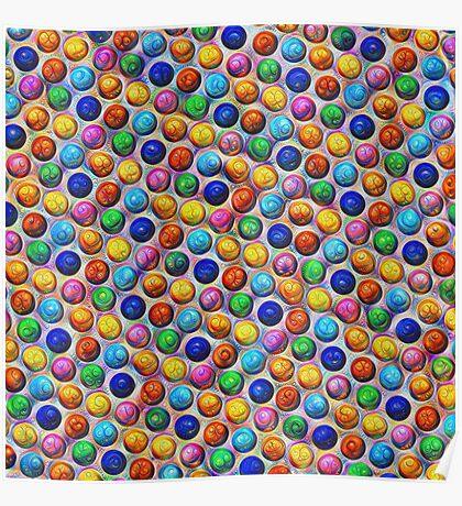 Color Dots #DeepDream Poster