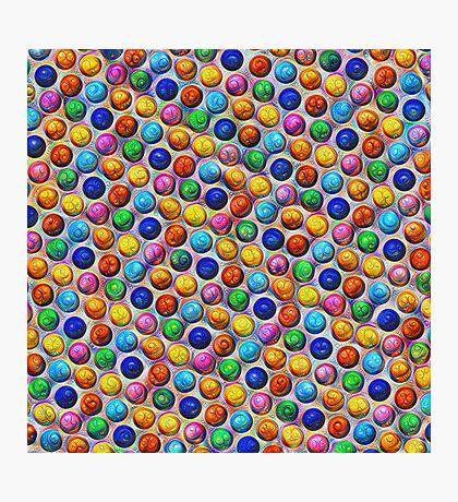 Color Dots #DeepDream Photographic Print