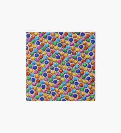 Color Dots #DeepDream Art Board Print