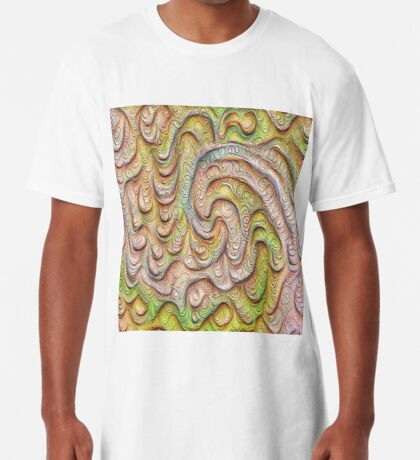 Frozen spring wave #DeepDream #Art | Sasalusais pavasara vilnis Long T-Shirt