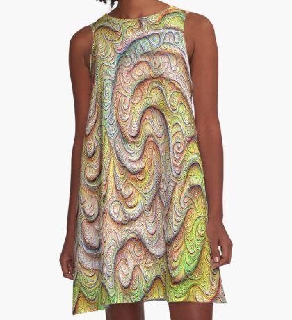 Frozen spring wave #DeepDream #Art   Sasalusais pavasara vilnis A-Line Dress