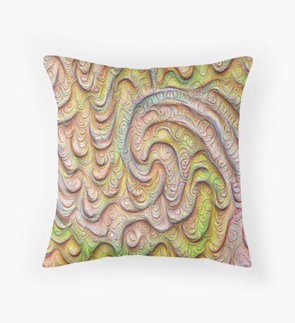 Frozen spring wave #DeepDream #Art | Sasalusais pavasara vilnis Floor Pillow