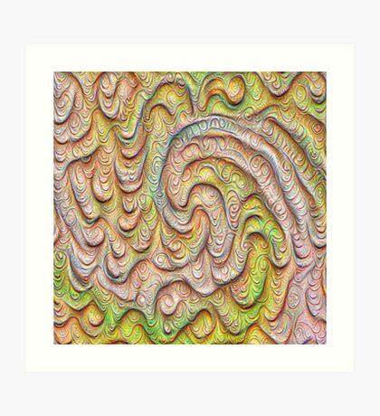 Frozen spring wave #DeepDream #Art | Sasalusais pavasara vilnis Art Print