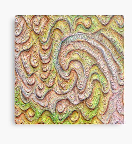 Frozen spring wave #DeepDream #Art   Sasalusais pavasara vilnis Metal Print
