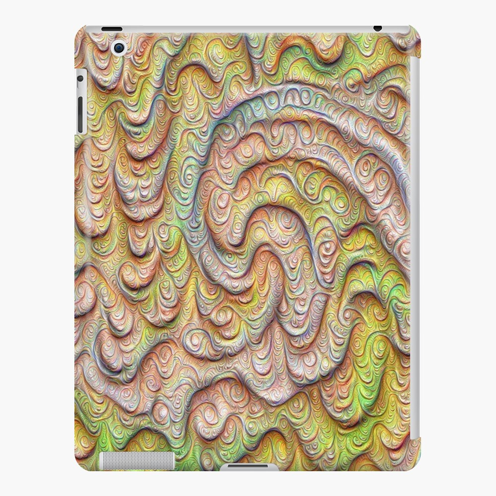 Frozen spring wave #DeepDream #Art   Sasalusais pavasara vilnis iPad Case & Skin