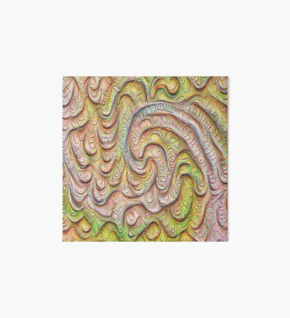 Frozen spring wave #DeepDream #Art   Sasalusais pavasara vilnis Art Board Print