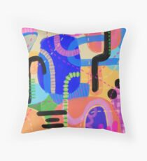 Coral Bliss Throw Pillow