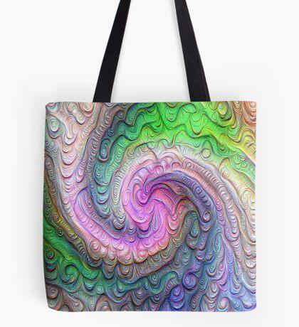 Frozen color Wave #DeepDream #Art Tote Bag
