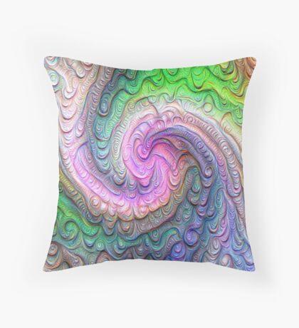 Frozen color Wave #DeepDream #Art Throw Pillow