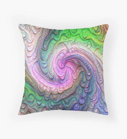 Frozen color Wave #DeepDream #Art Floor Pillow