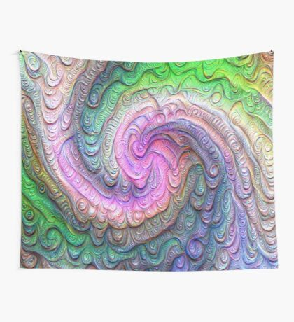 Frozen color Wave #DeepDream #Art Wall Tapestry