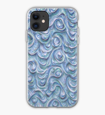Surface texture #DeepDream #Art Blue iPhone Case
