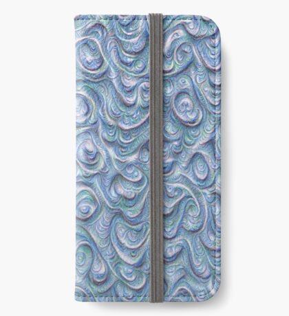 Surface texture #DeepDream #Art Blue iPhone Wallet