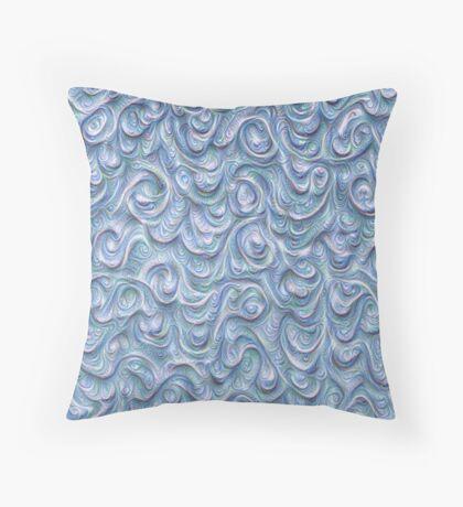 Surface texture #DeepDream #Art Blue Throw Pillow