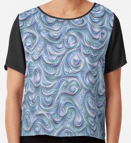 Surface texture #DeepDream #Art Blue Chiffon Top