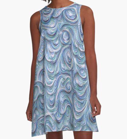 Surface texture #DeepDream #Art Blue A-Line Dress