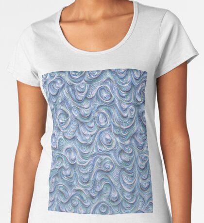 Surface texture #DeepDream #Art Blue Premium Scoop T-Shirt