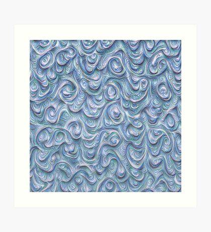 Surface texture #DeepDream #Art Blue Art Print