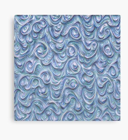 Surface texture #DeepDream #Art Blue Canvas Print