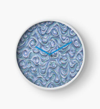 Surface texture #DeepDream #Art Blue Clock