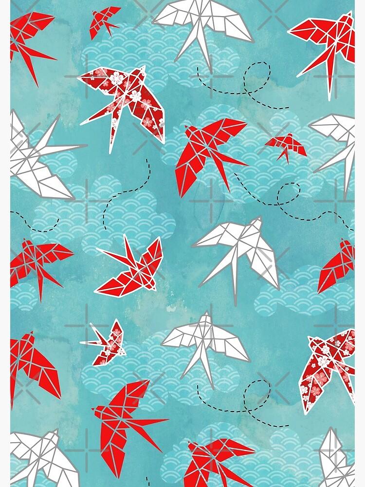 Origami Swallow by adenaJ