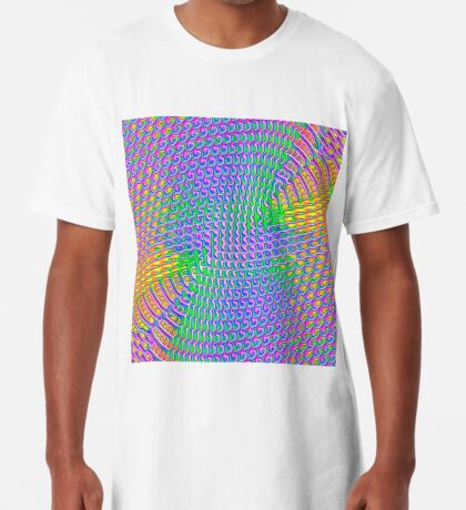 Pattern loud Long T-Shirt