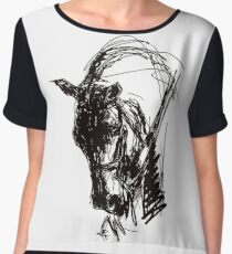 Dressage Horse Drawing  Chiffon Top