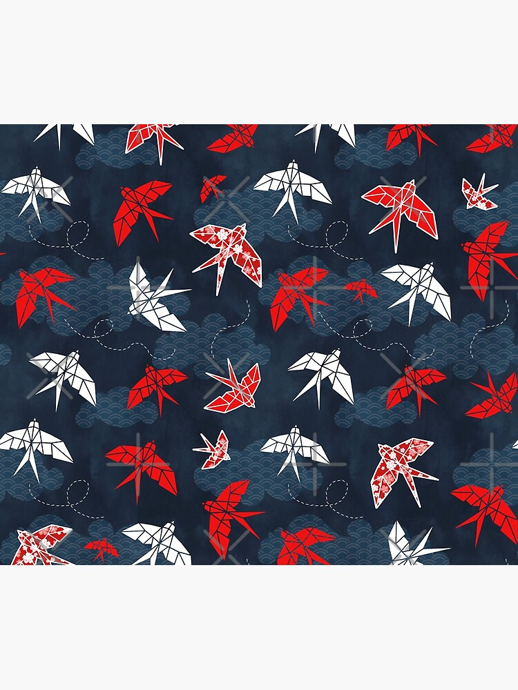 Origami Swallow Navy Blue by adenaJ
