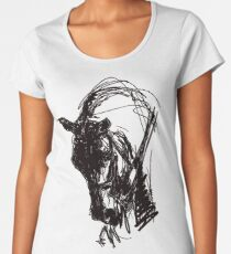 Dressage Horse Drawing  Women's Premium T-Shirt