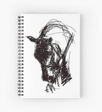 Dressage Horse Drawing  Spiral Notebook