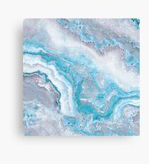 Luxus Meerjungfrau Blau Achat Marmor Geode Gem Leinwanddruck