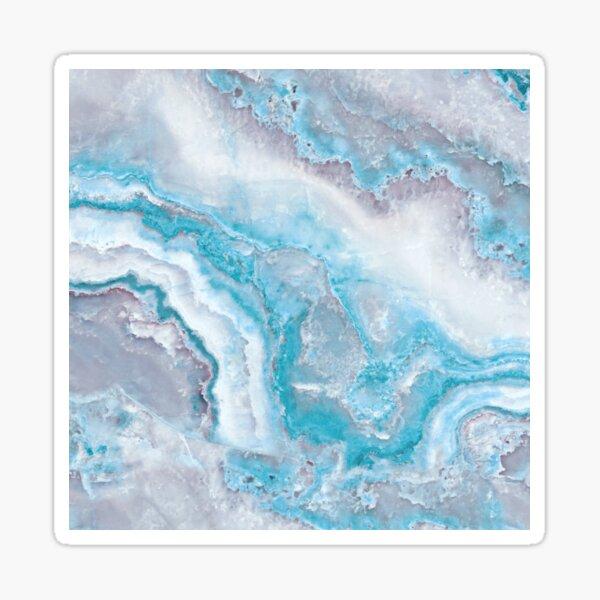 Luxury Mermaid Blue Agate Marble Geode Gem Sticker