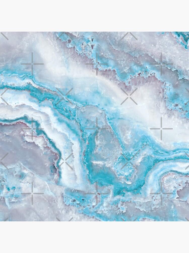 Luxury Mermaid Blue Agate Marble Geode Gem by MysticMarble