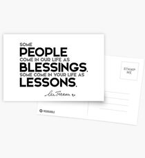 people: blessings, lessons - mother teresa Postcards