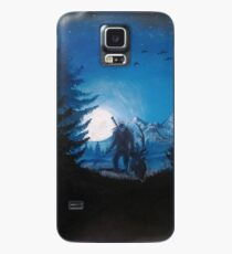 Geralt from the Witcher 3! Blue night, acrilyc painting  Case/Skin for Samsung Galaxy
