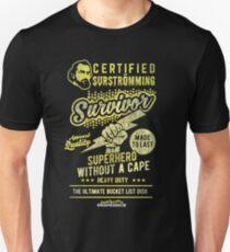 "surströmming Chemise drôle ""surströmming Survivor"" T-shirt unisexe"