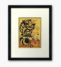 Nekobus, le Chat Noir cartel Lámina enmarcada