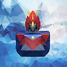 Voltes V Low Poly Art by giftmones