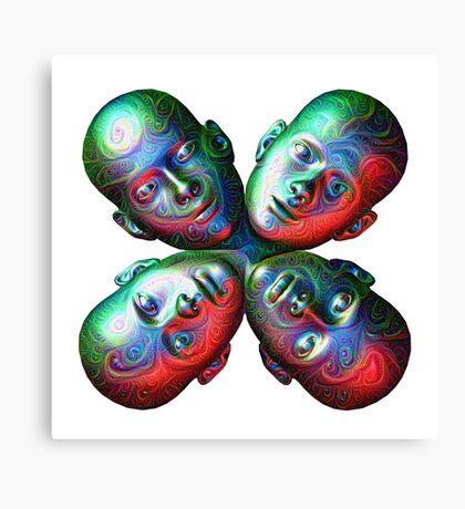 #DeepDream Masks - Heads 5x5K v1455792443 Canvas Print